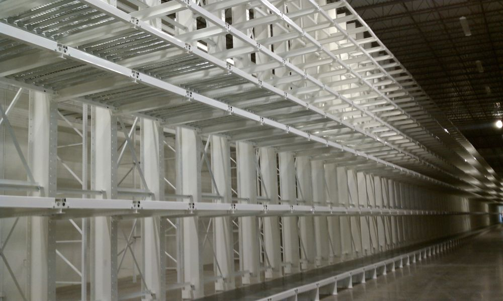 Cantilever Rack with Custom Shelving